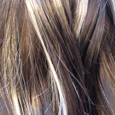 example of the colours of my highlights and natural hair colour.