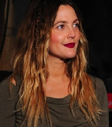 Drew Barrymore's dramatic ombre hair color