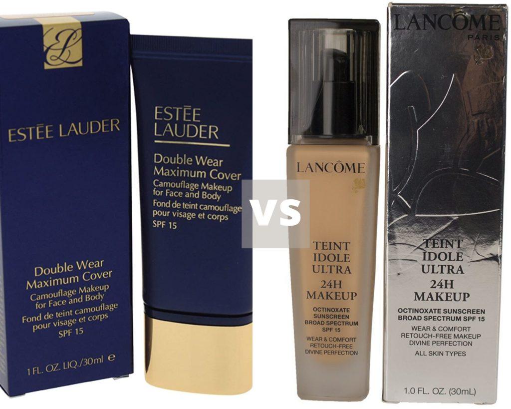 Lancome vs Estee Lauder Foundation